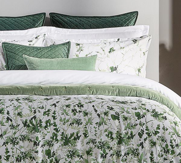 Christy Leaf Fronds Duvet Set Jones And Tomlin
