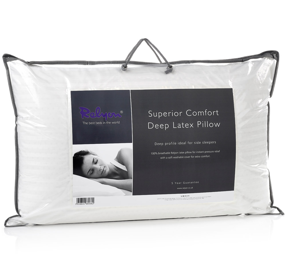 relyon deep superior comfort latex pillow