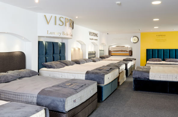 Vispring-Beds-On-Display-At-Horsham-Bedding-Centre